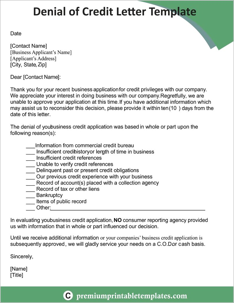Rfp Rejection Letter Template