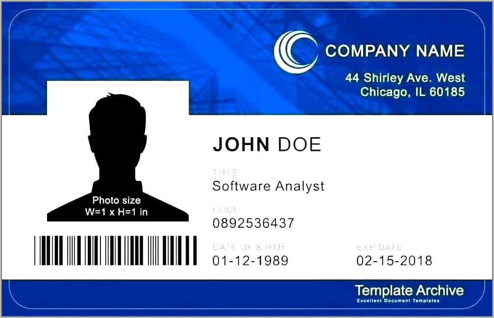 Ring Security Id Badge Template