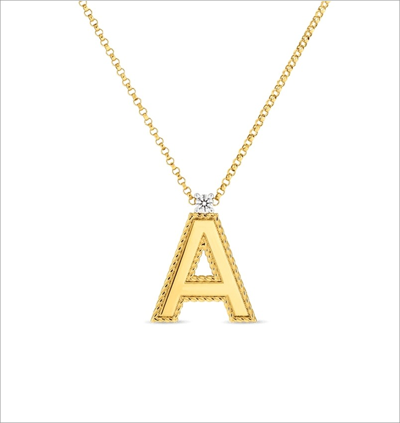 Roberto Coin Letter Necklace