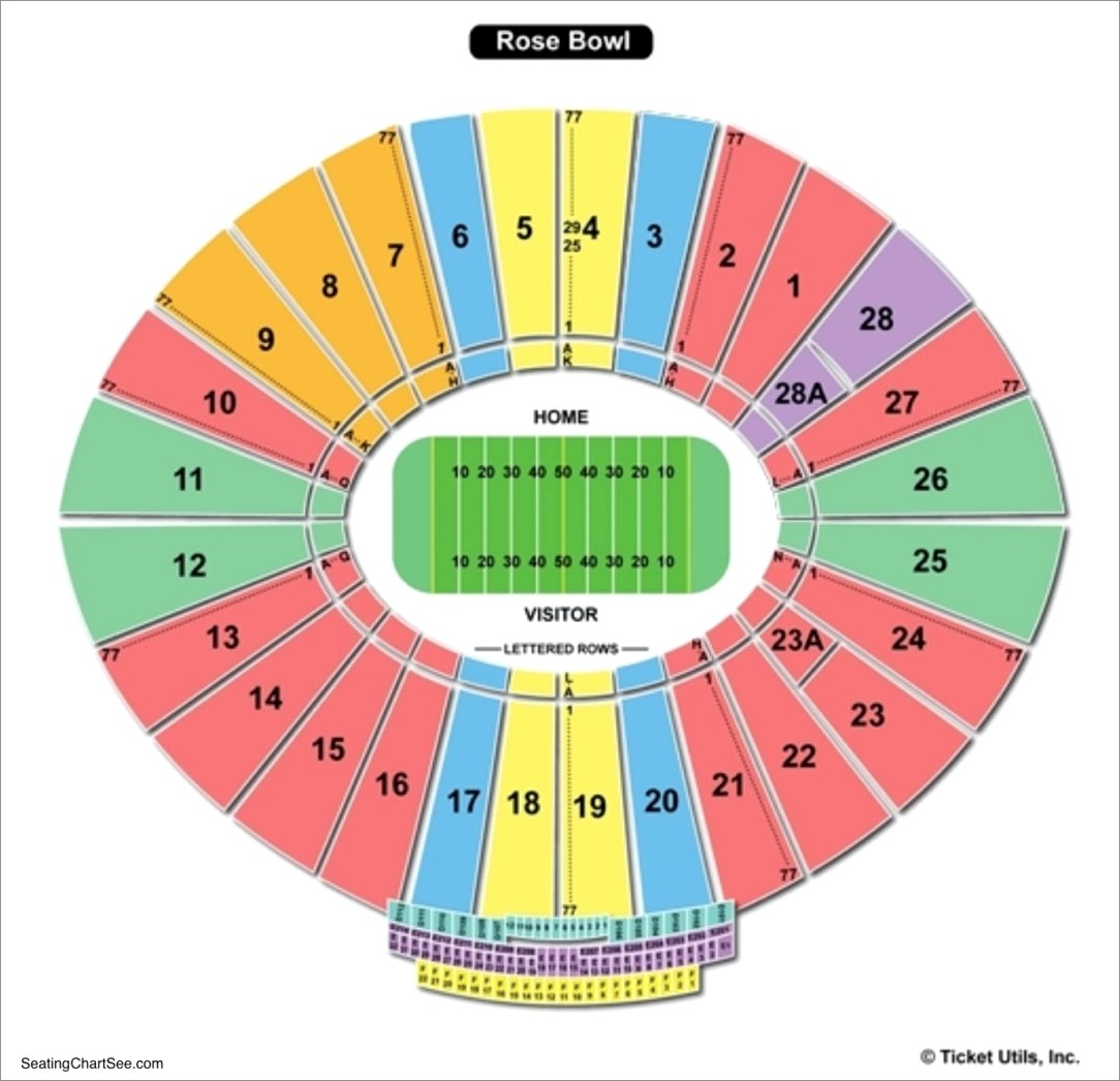 Rose Bowl Lettered Row Seats