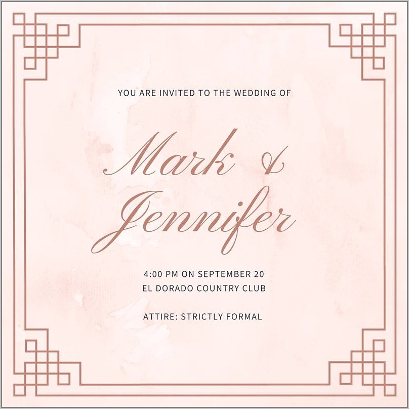 Royal Wedding Invitation Examples