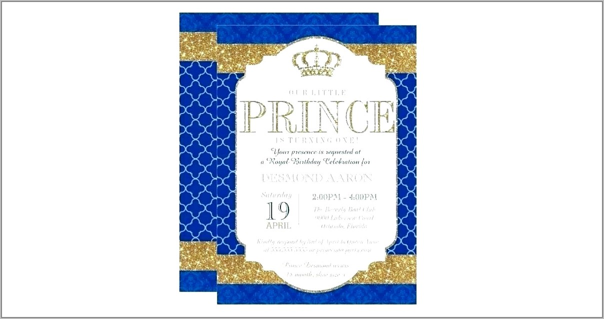 Royal Wedding Invitation Template Ks1