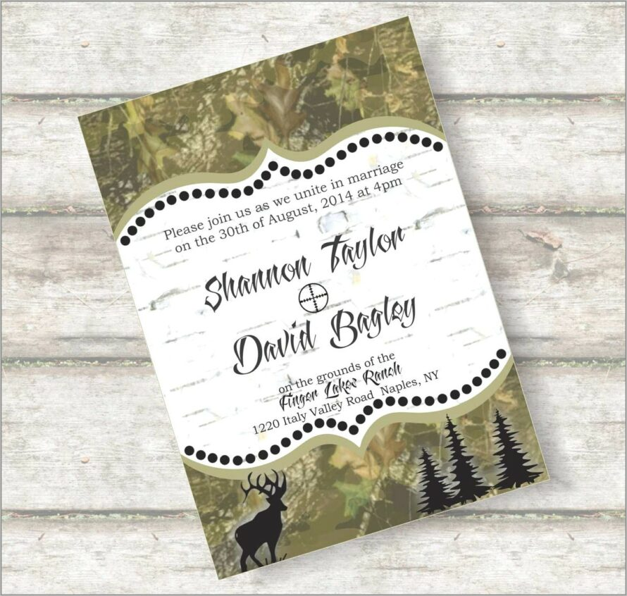 Rustic Country Wedding Invitations Templates
