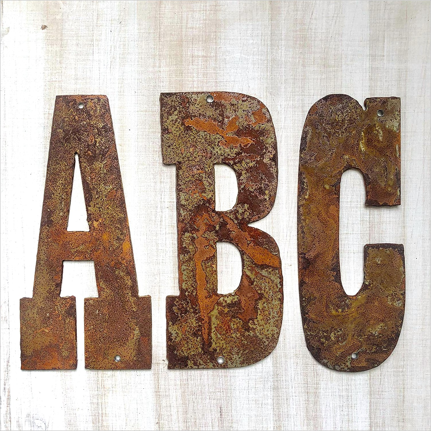 Rustic Metal Letters With Lights