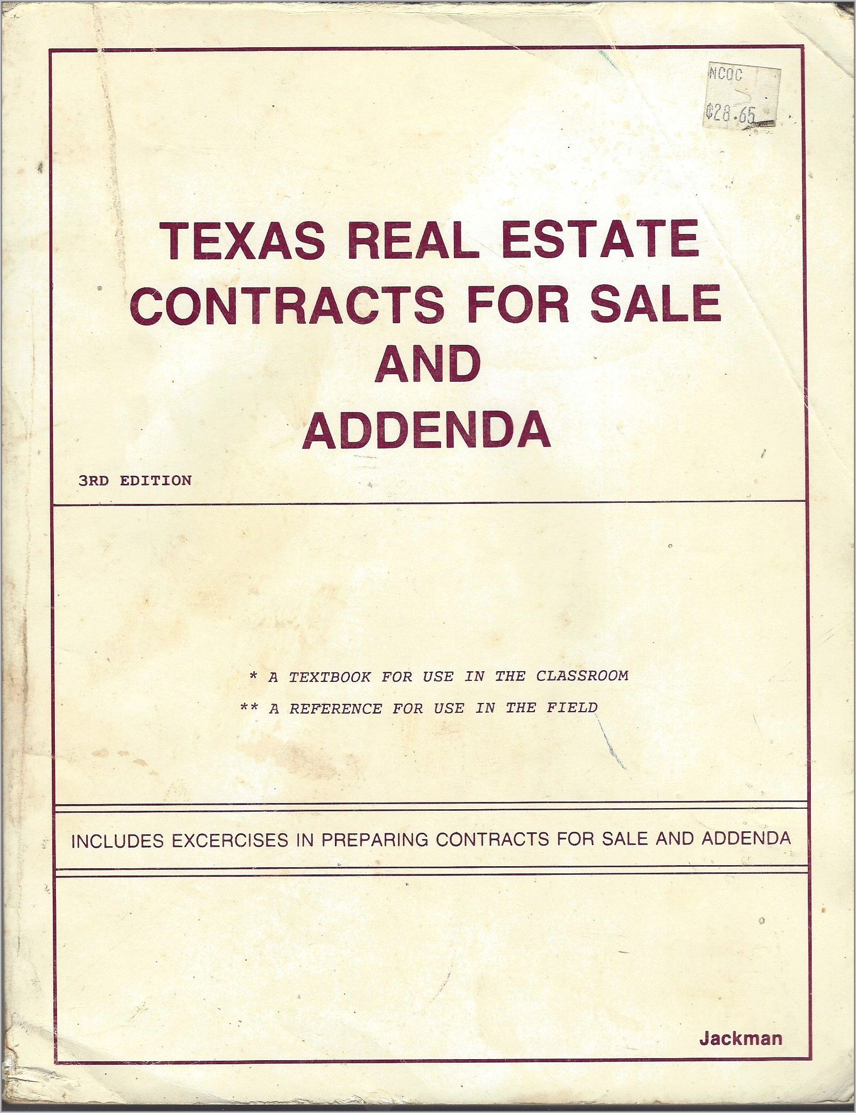 Sale Contracts For Real Estate