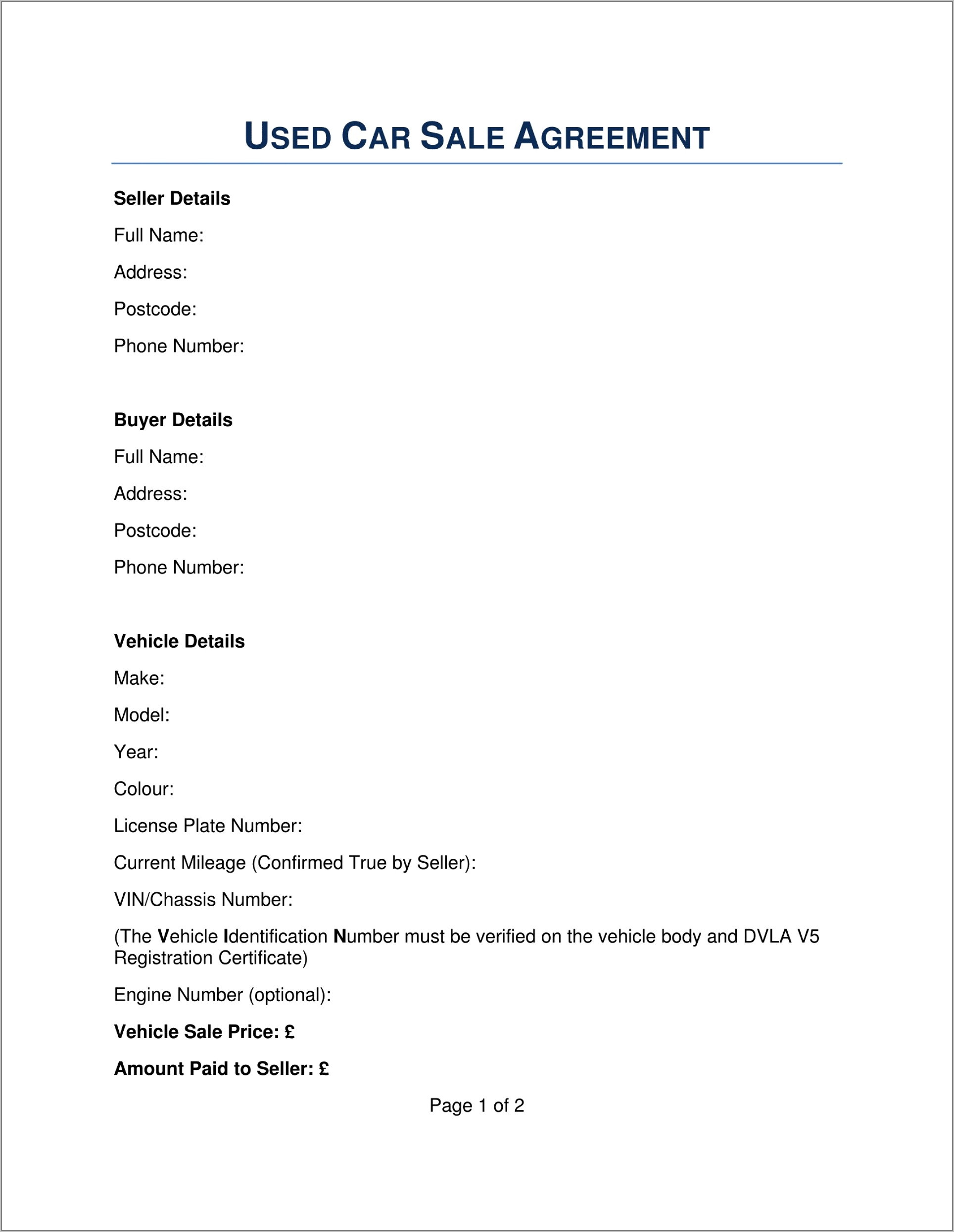 Sales Agreement Template Download