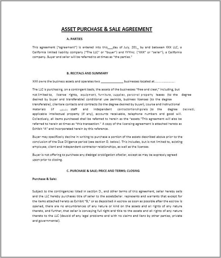 Sales And Purchase Agreement Form Nz