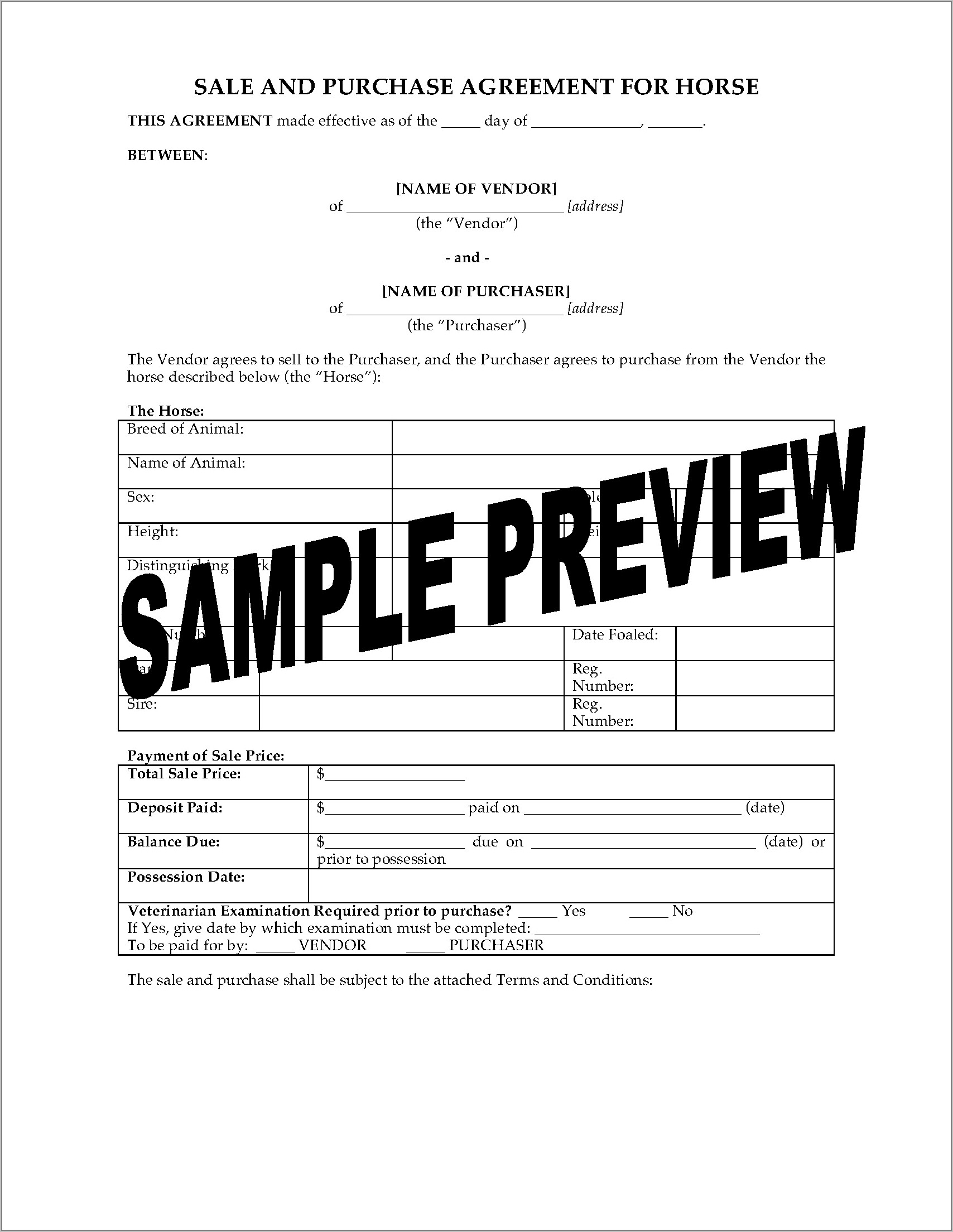 Sales And Purchase Agreement Template Nz