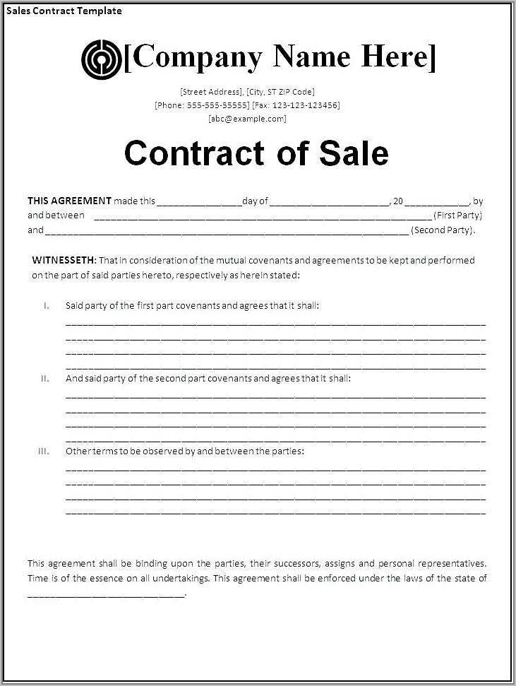 Sales And Purchase Agreement Template Uk