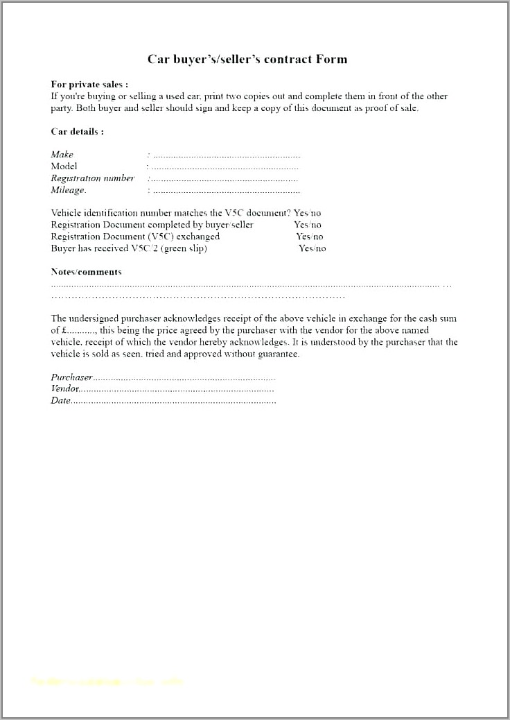 Sales And Purchase Contract Sample