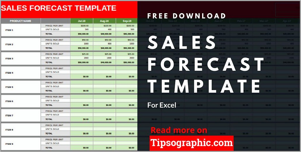 Sales Forecast Template Free Download
