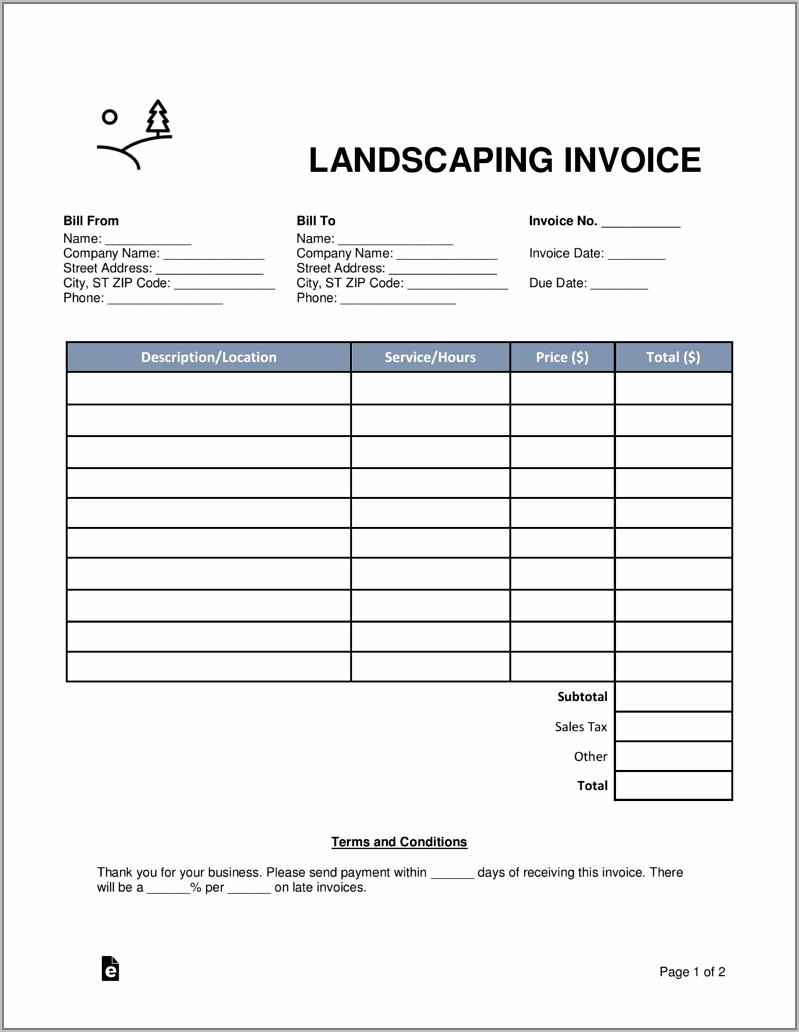 Sales Invoice Terms And Conditions Template