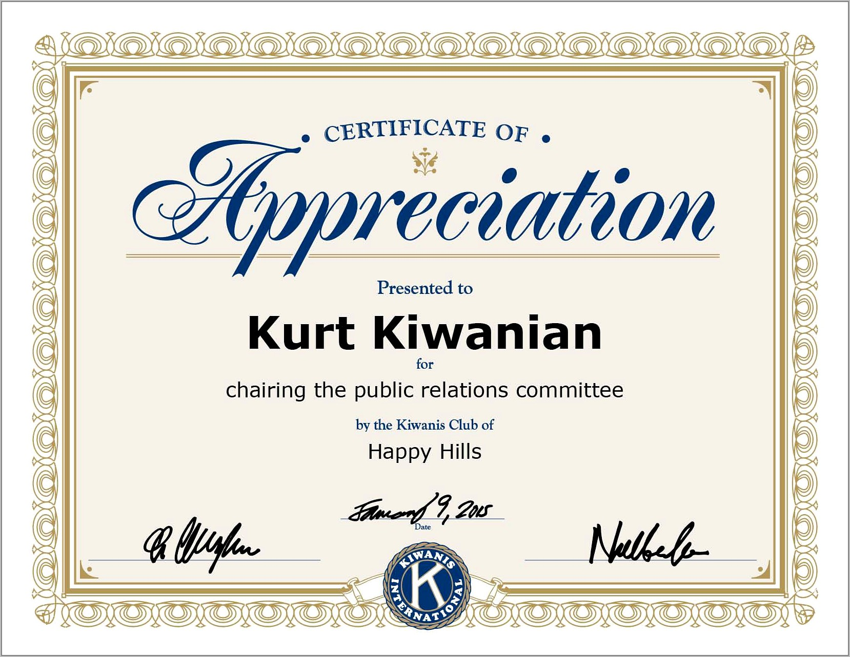 Sample Certificate Of Appreciation For Employees