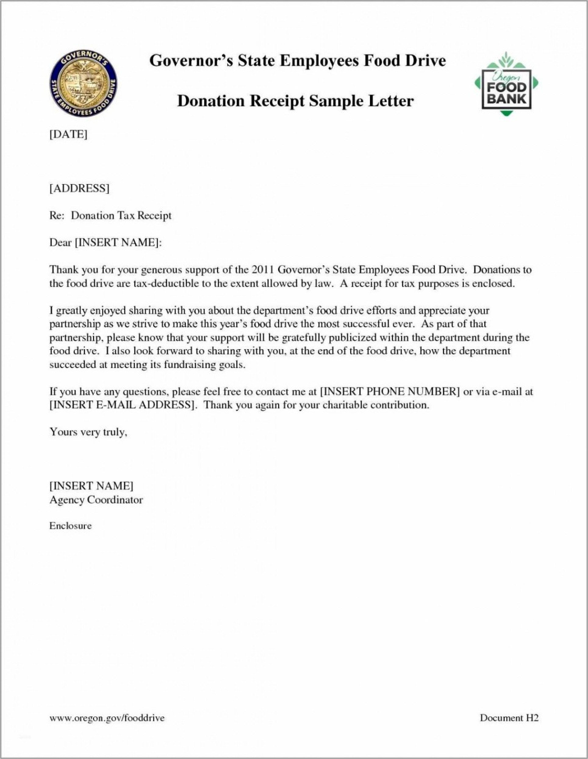 Sample Donation Request Letter Format