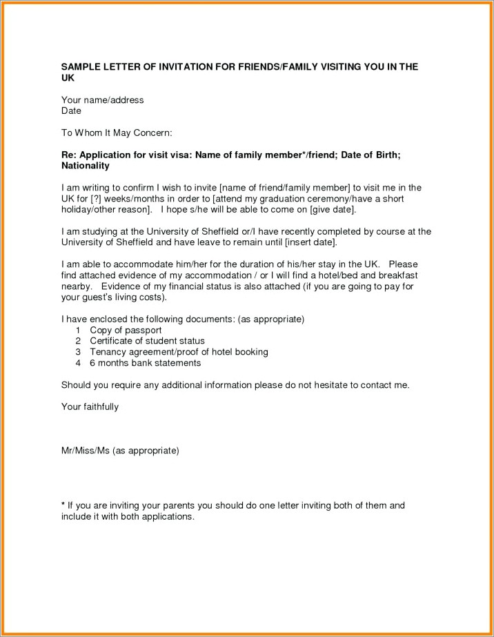 Sample Eviction Letter To Family Member Uk