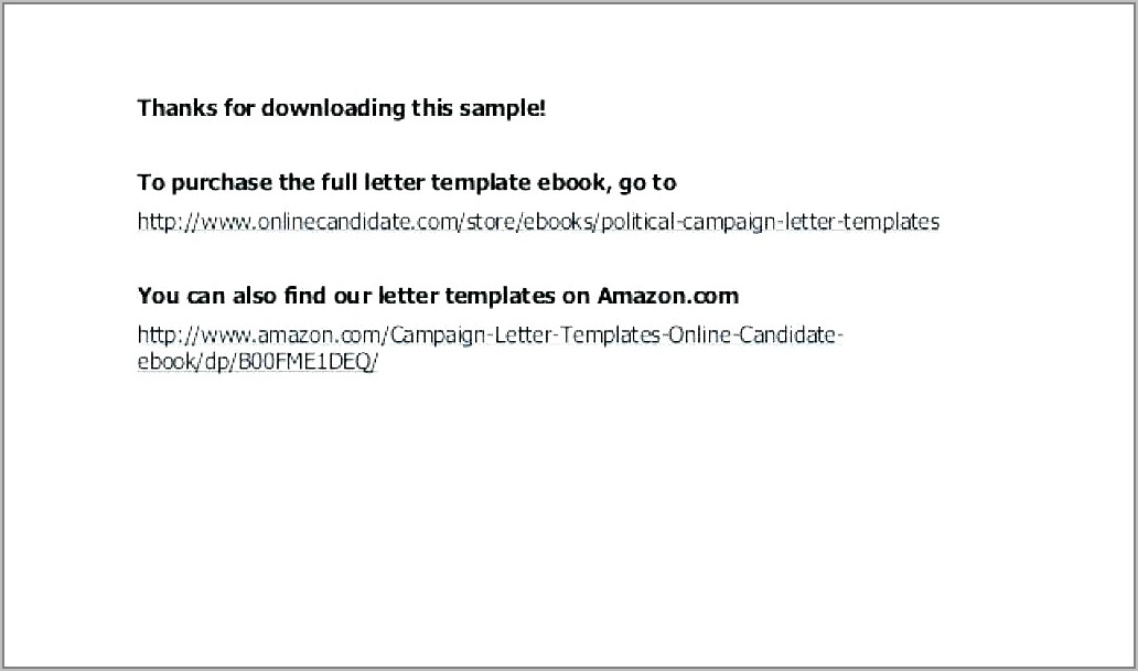 Sample Fundraising Appeal Letter Template