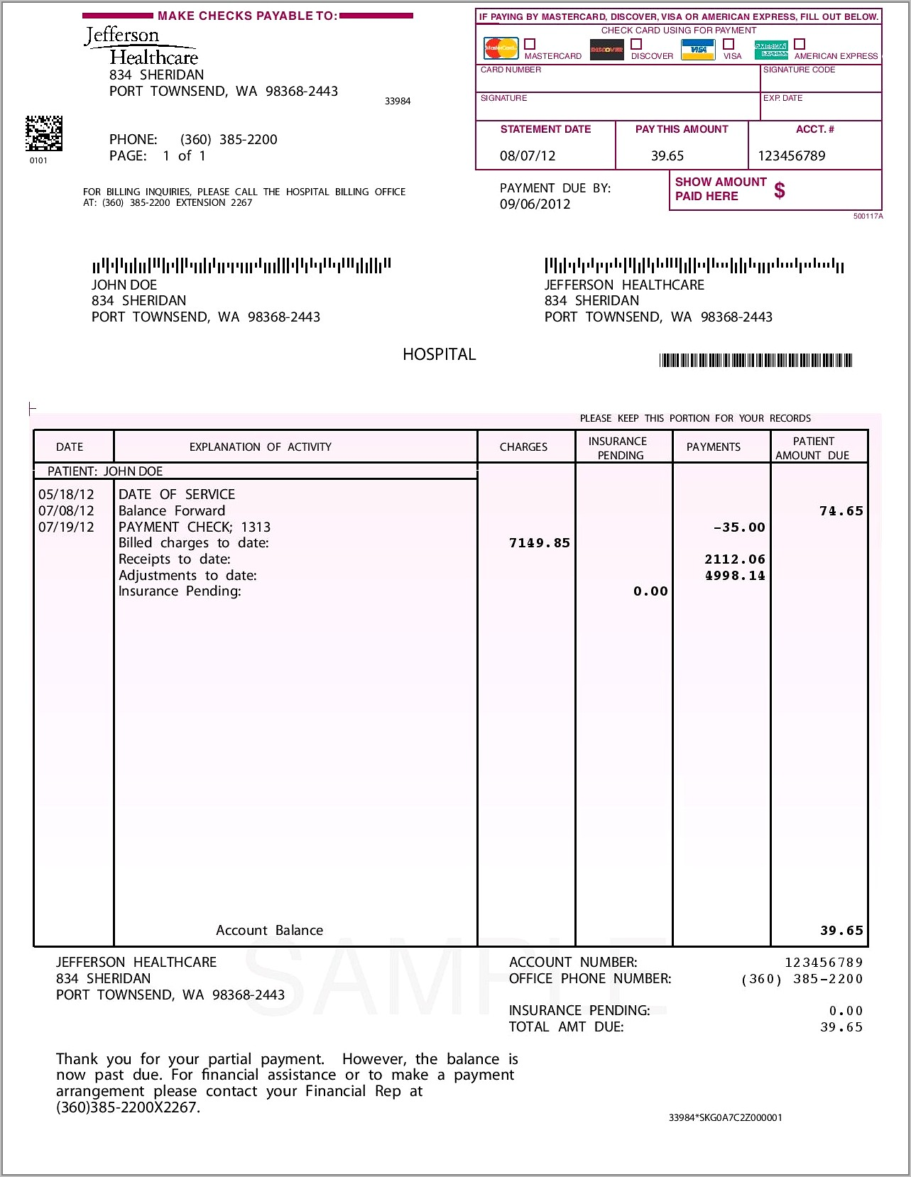 Sample Invoice Template With Terms And Conditions