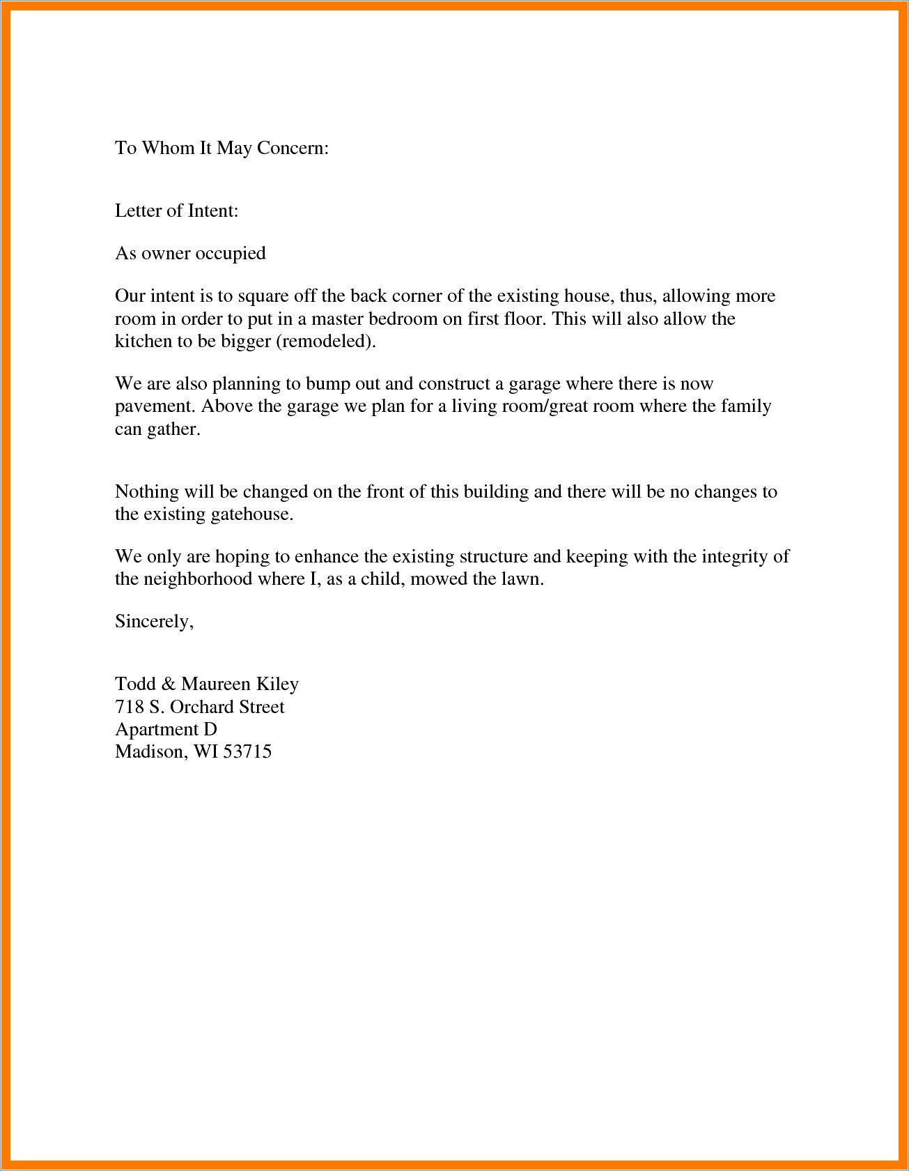 Sample Letter Of Recommendation For Daycare Provider
