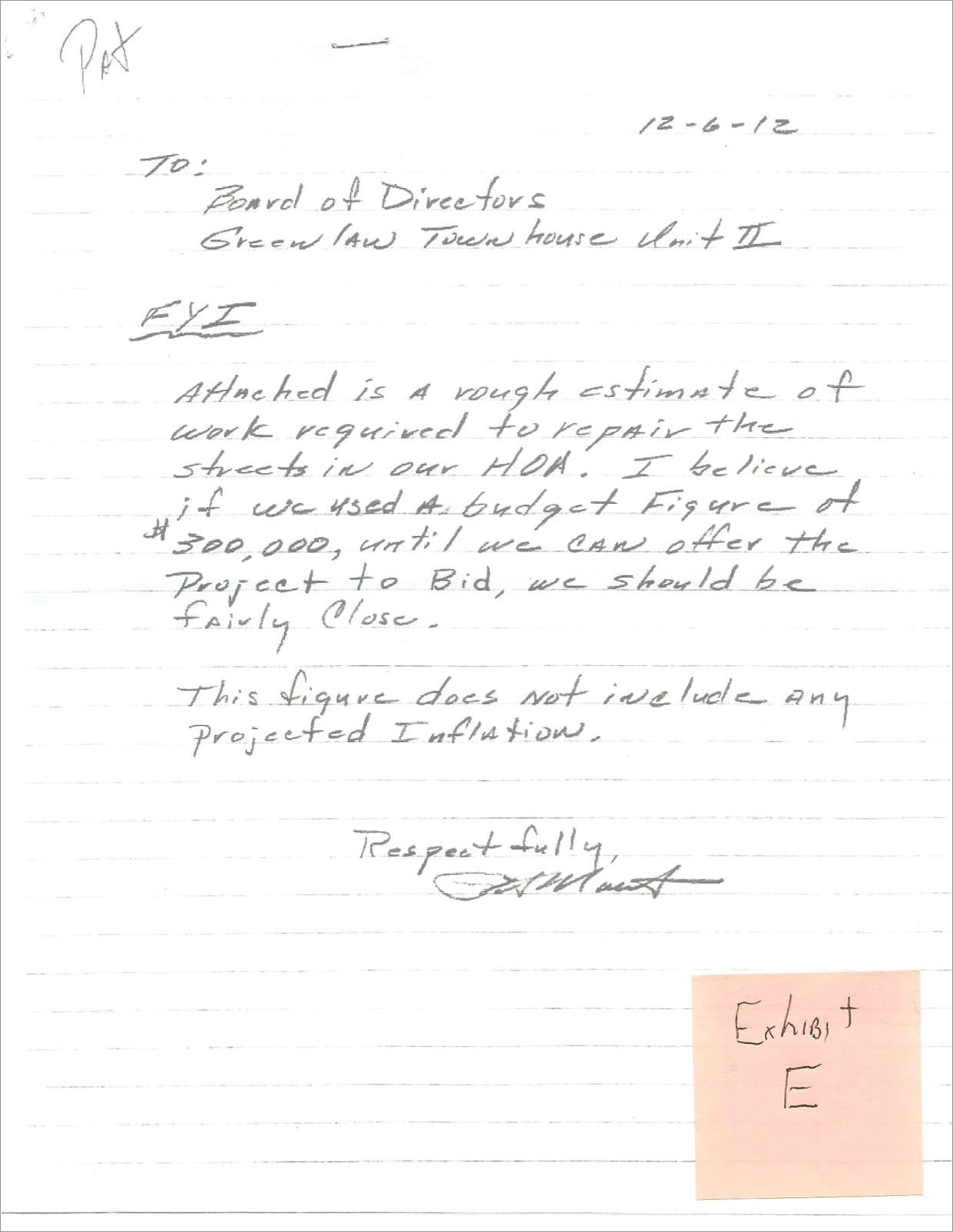 Sample Letter To Hoa Requesting Fence