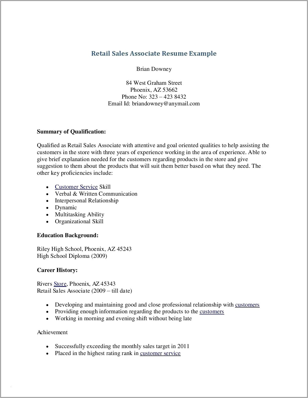Sample Resume For Clinic Receptionist