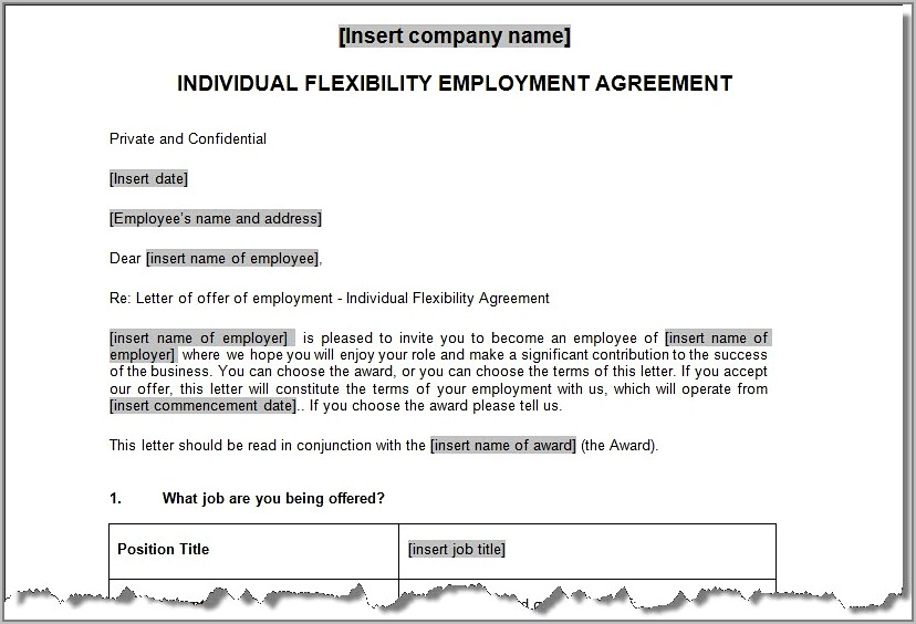 Sample Termination Of Employment Contract