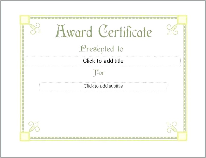 School Awards And Certificates Templates