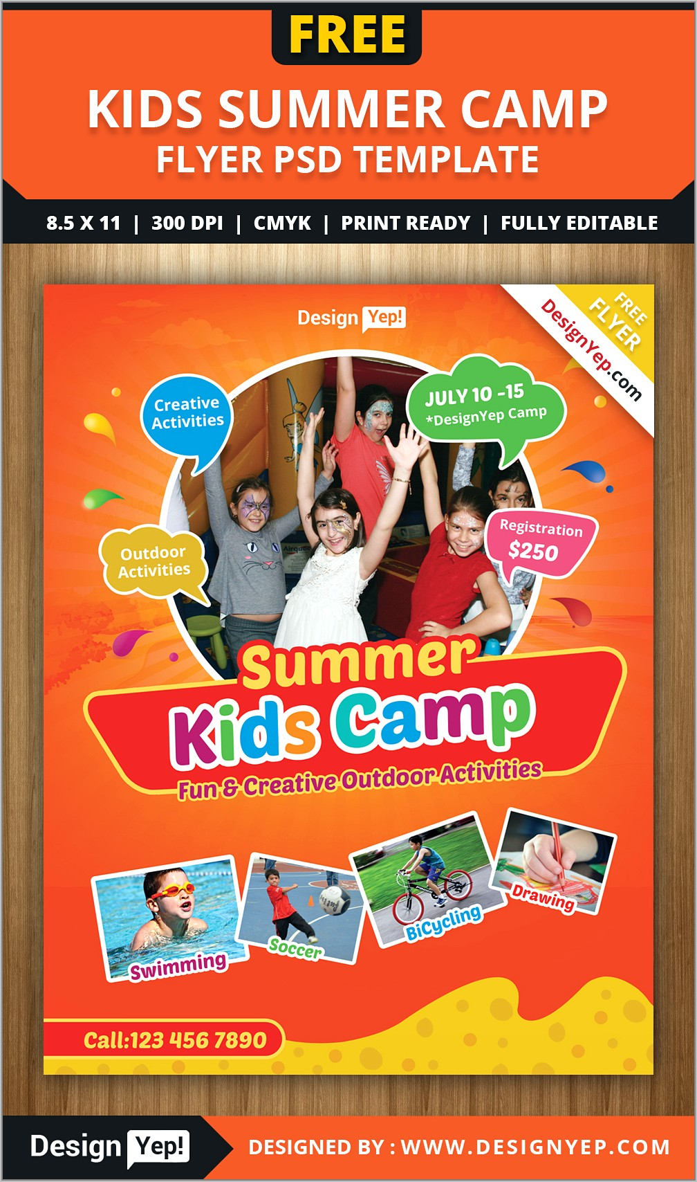 Science Summer Camp Flyer Template