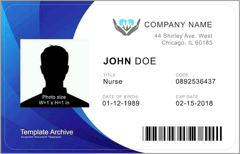 Security Badge Template Word