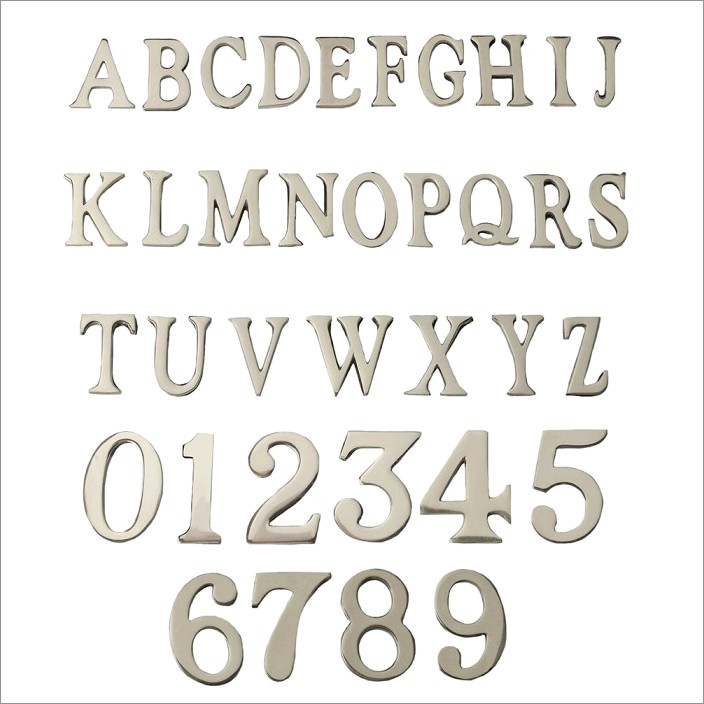 Self Adhesive Chrome Letters
