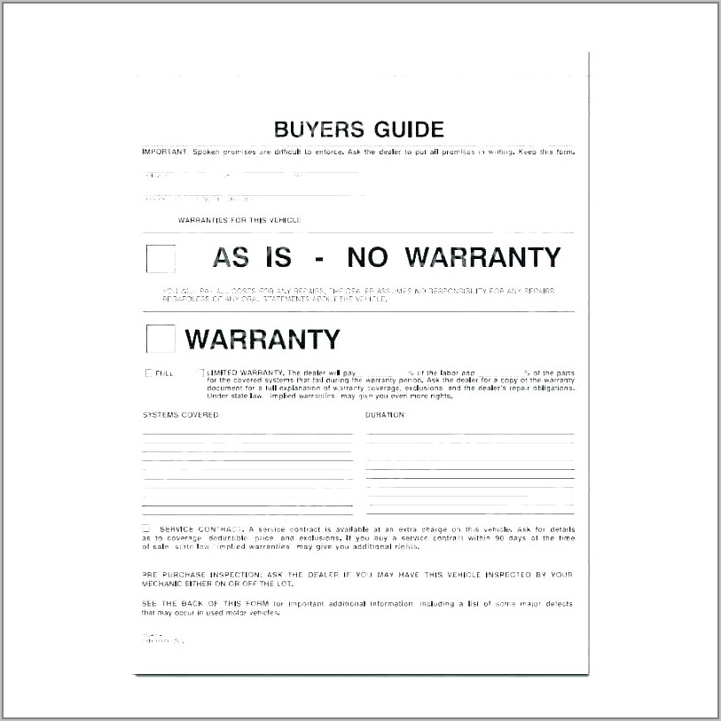 Selling A Car Contract Template Australia