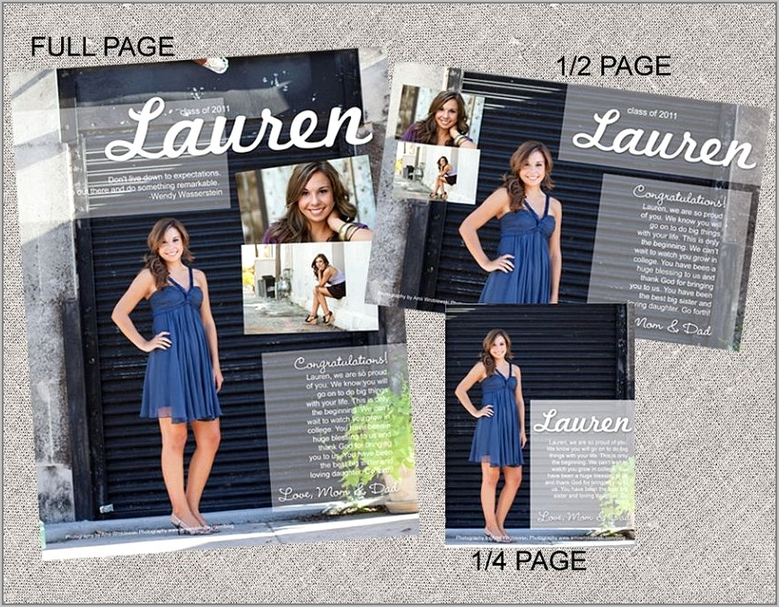 Senior Yearbook Pages Templates