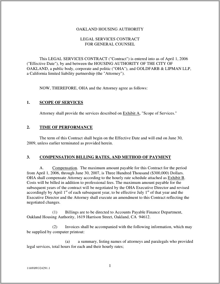 Service Agreements And Contracts Templates