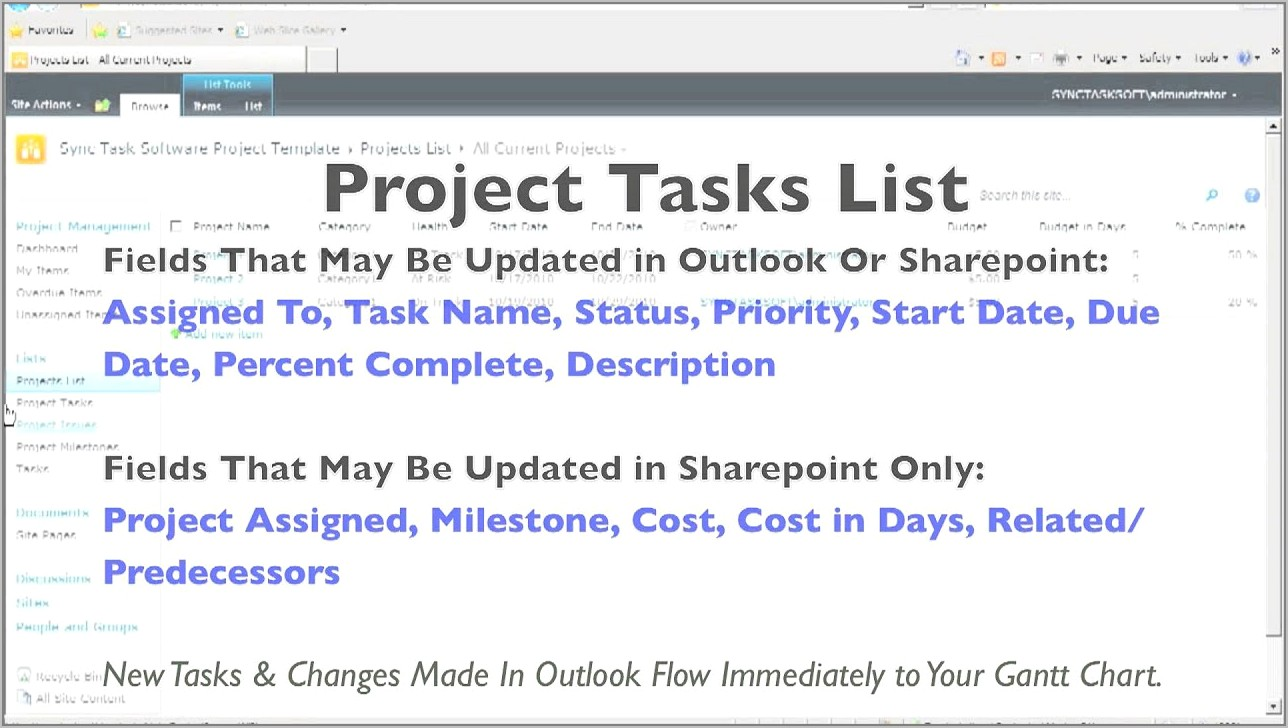 Sharepoint 2010 Project Management Template