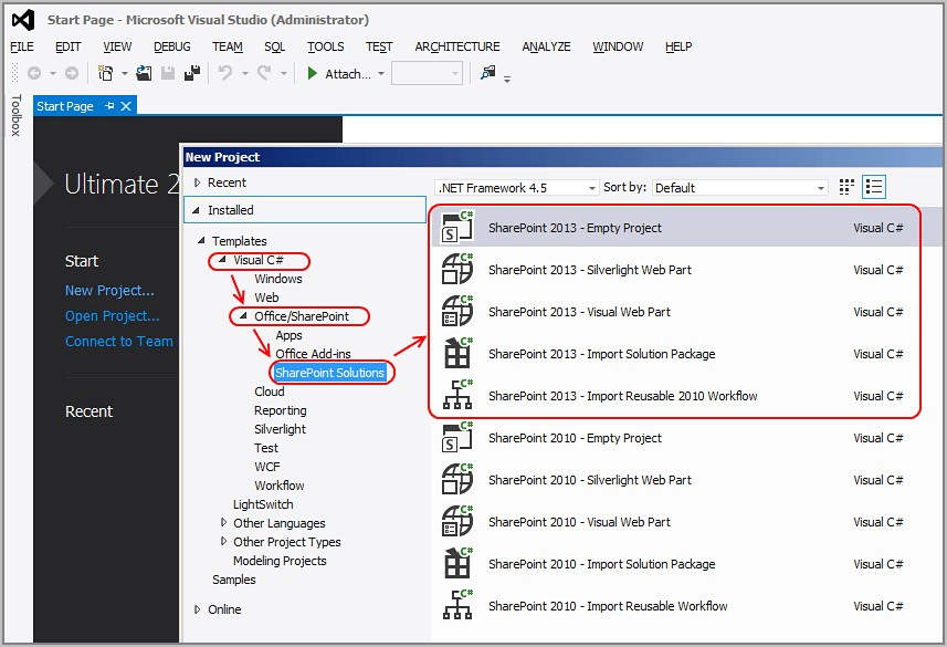 Sharepoint Project Template 2010
