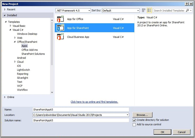 Sharepoint Project Templates For Visual Studio 2015