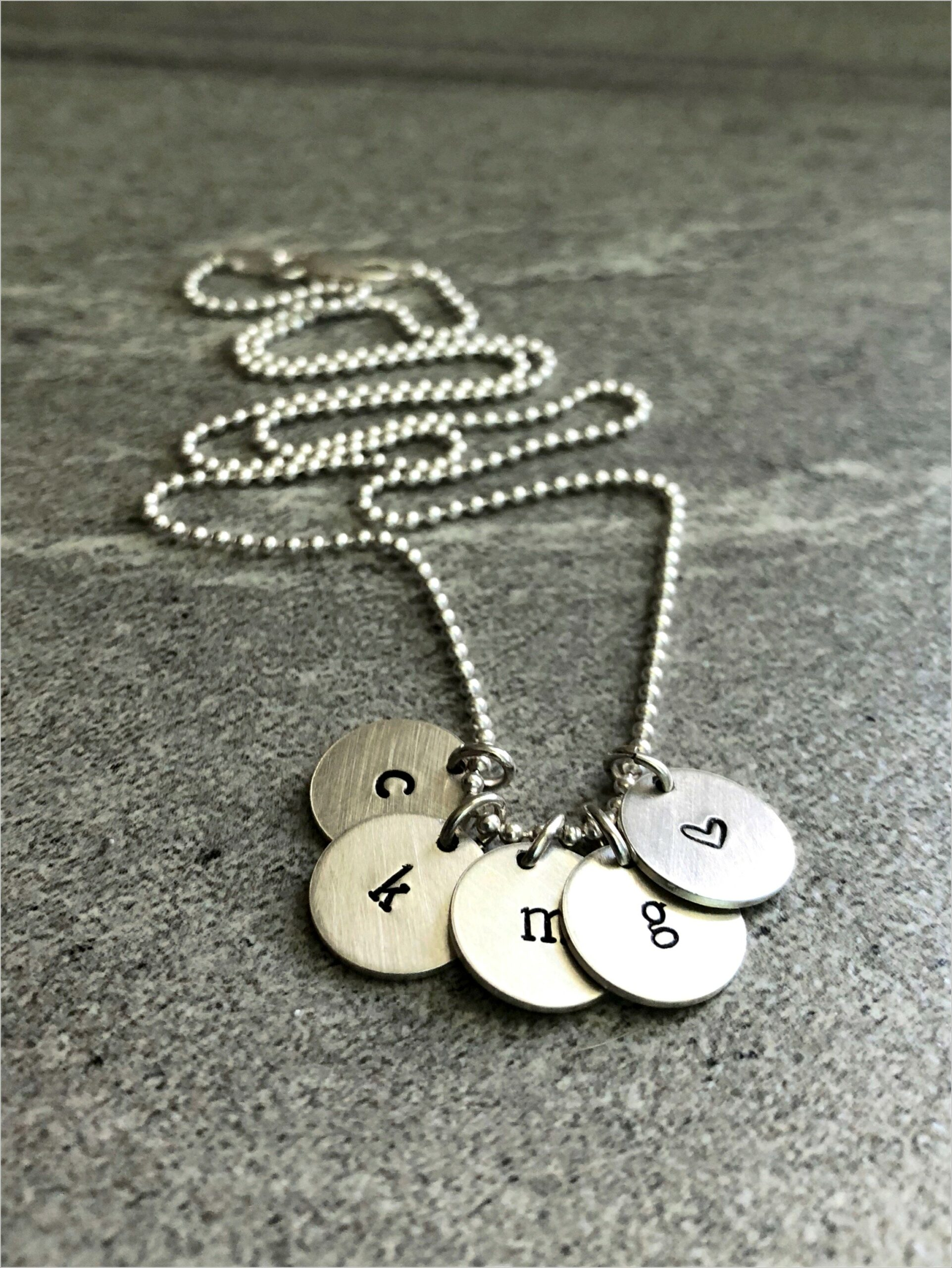 Silver Letter Charms For Necklace