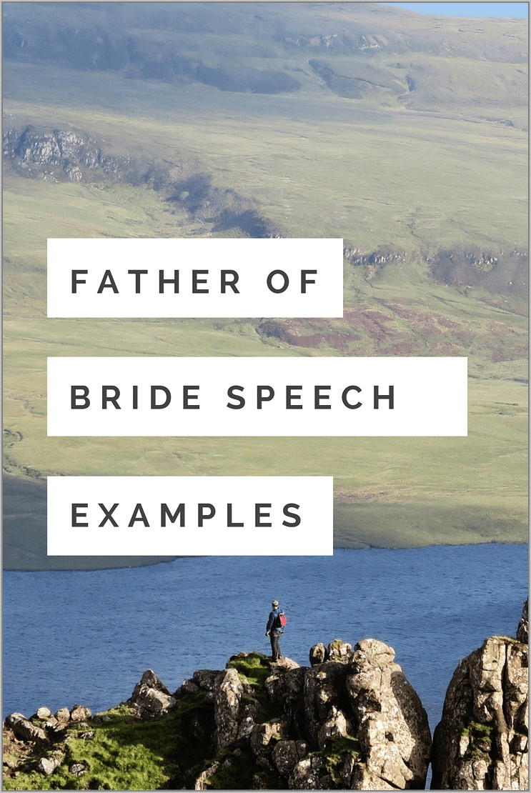 Simple Father Of The Bride Speech Template