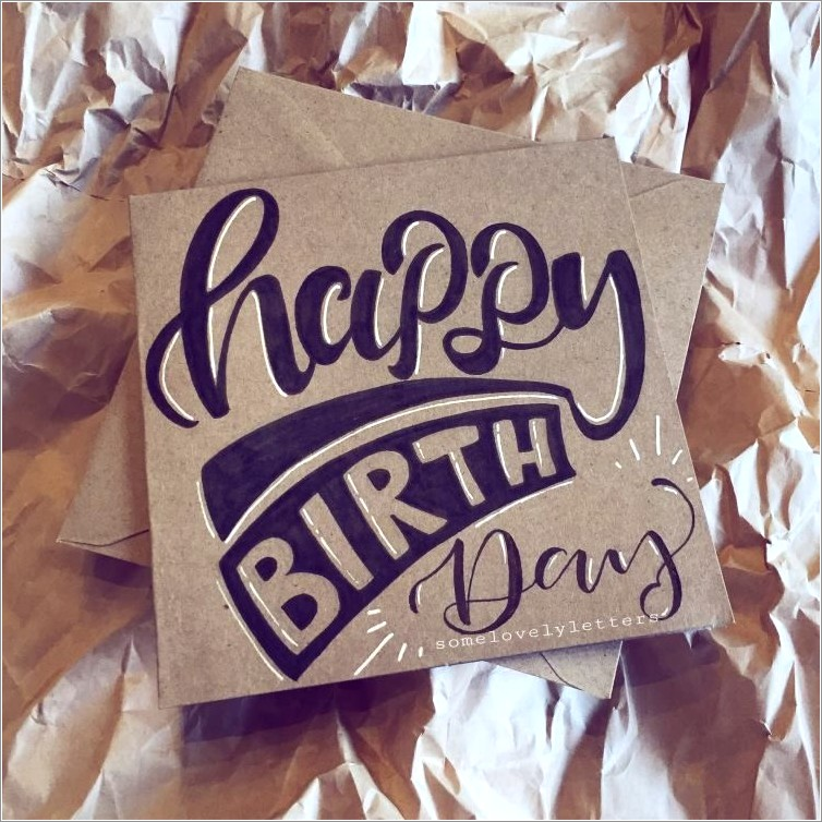 Simple Happy Birthday Hand Lettering
