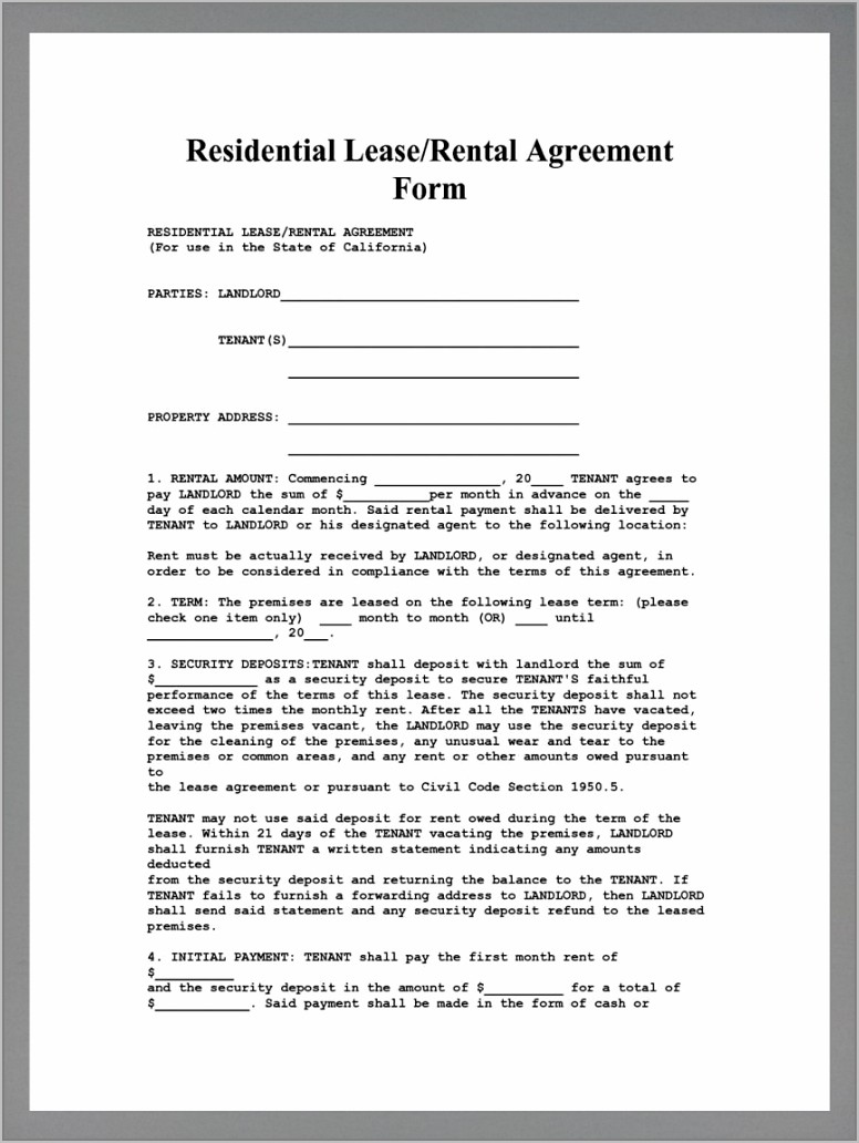 Simple Payment Agreement Form