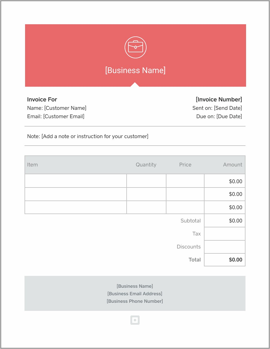 Simple Sales Invoice Template Free