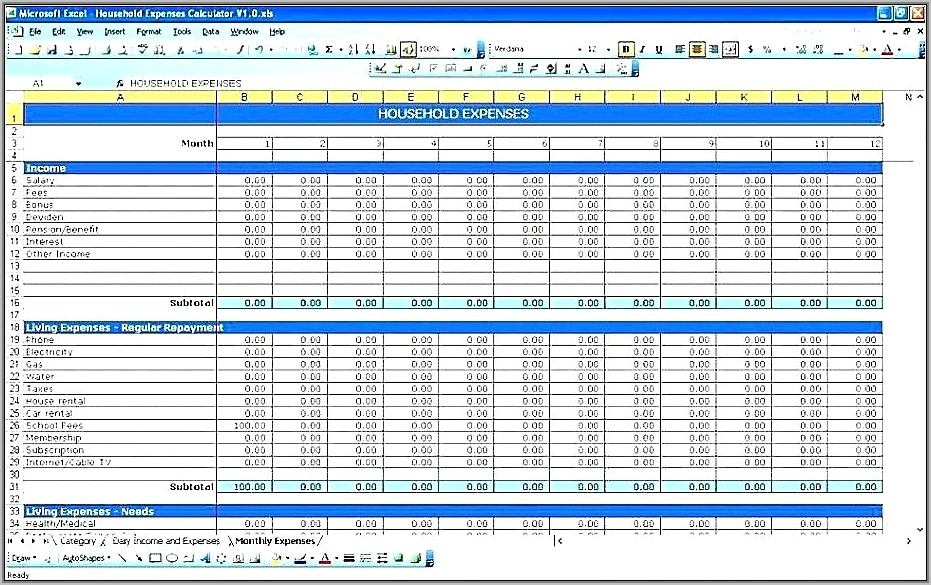 Small Business Accounts Spreadsheet Template
