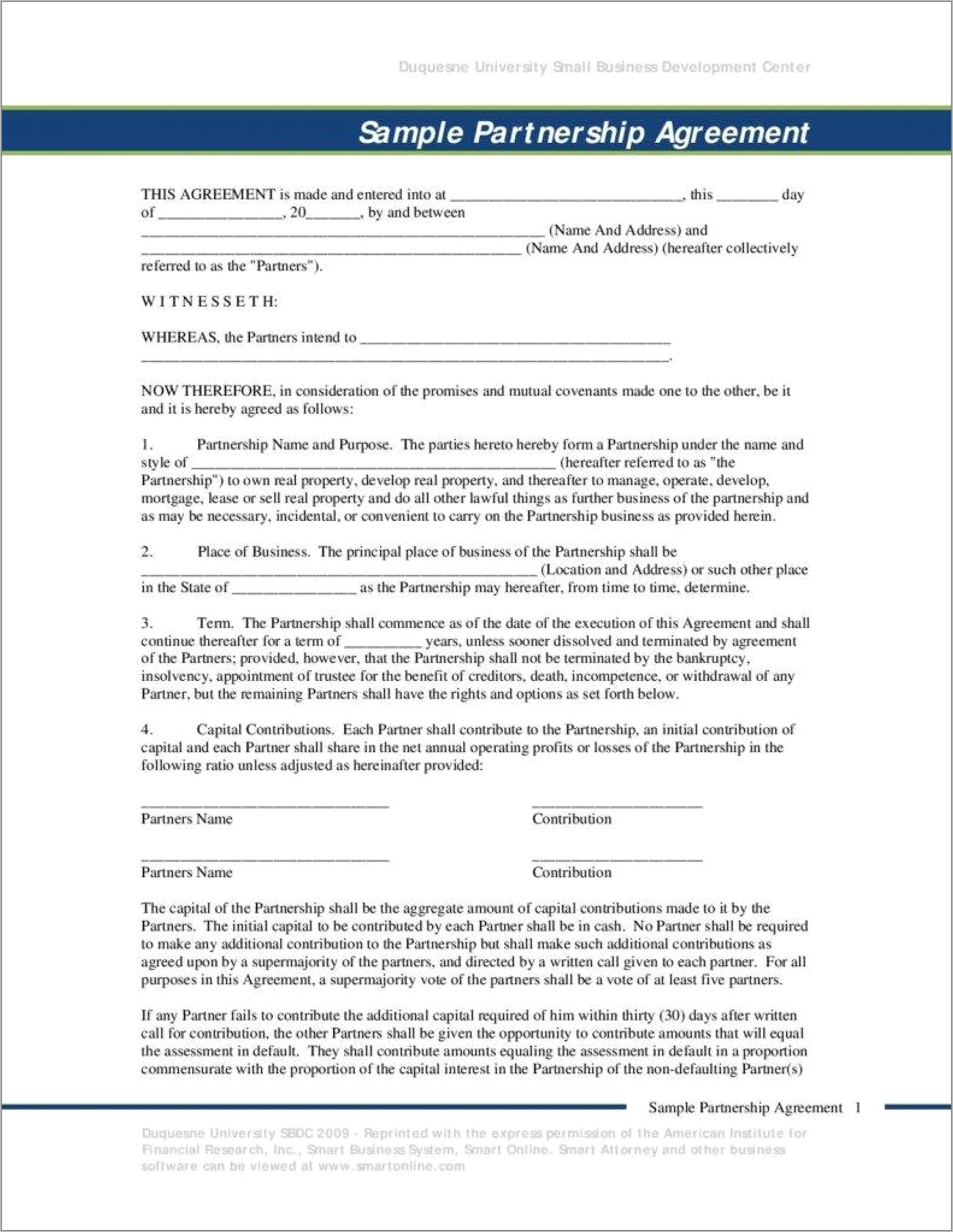 Small Business Contract Sample