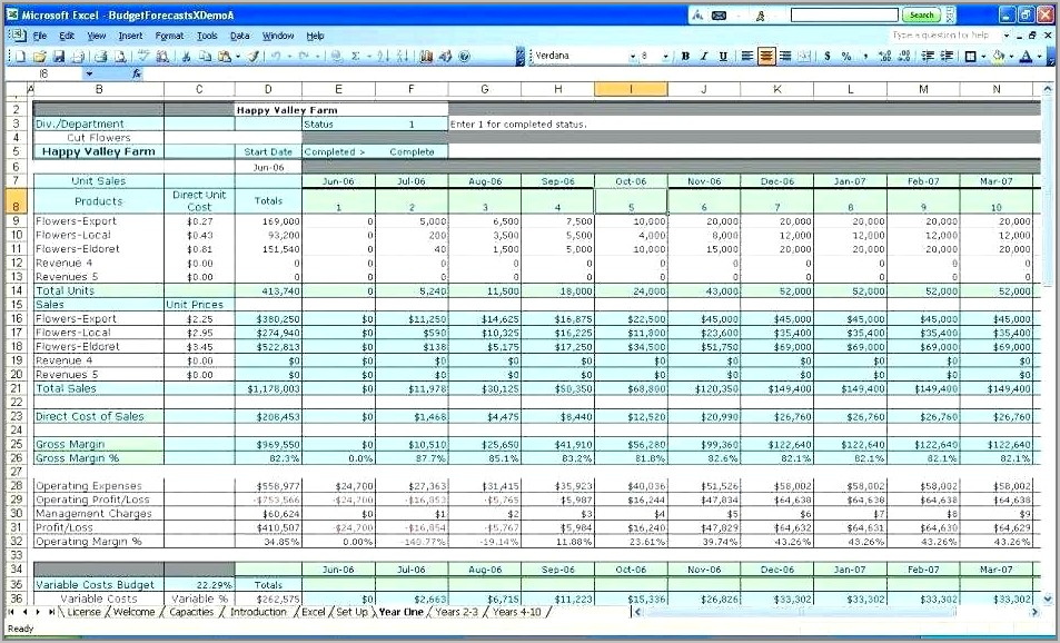 Small Business Spreadsheet Template