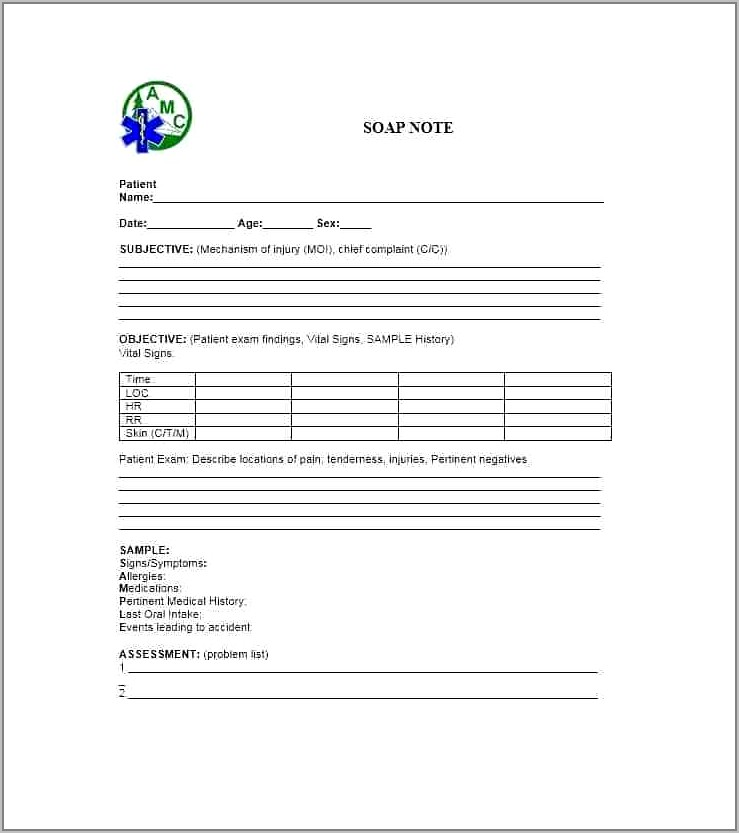 Soap Notes Example Pdf