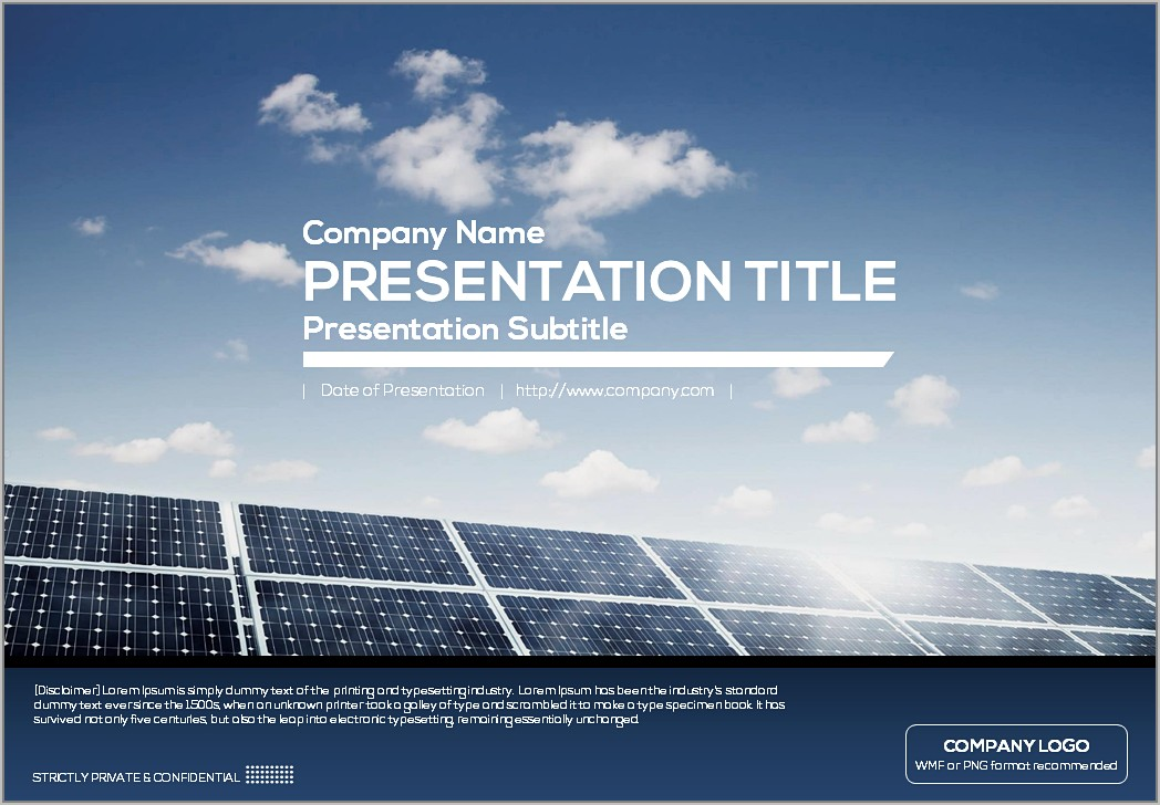Solar Energy Ppt Template Free