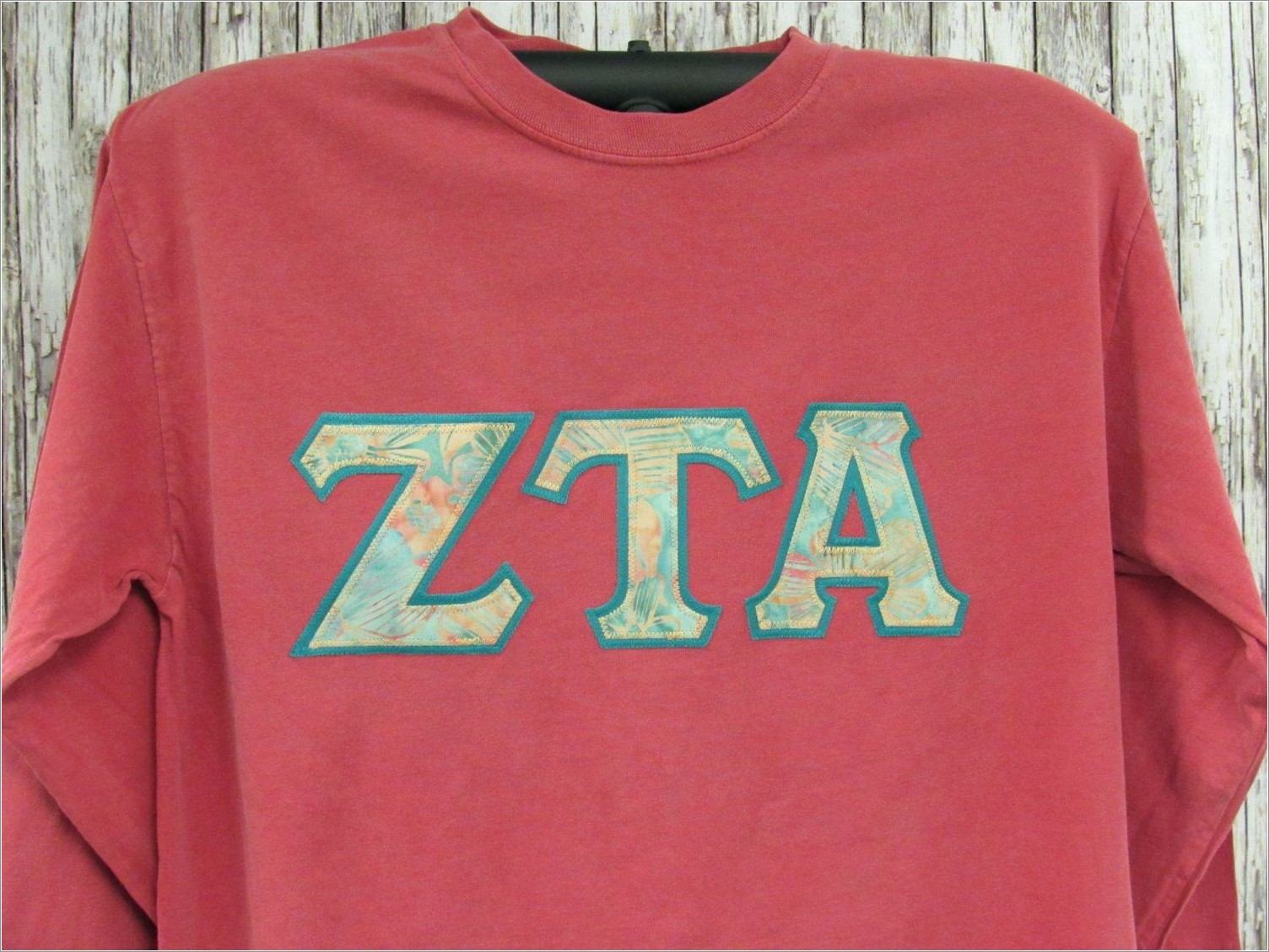 Sorority Stitched Letters Shirt