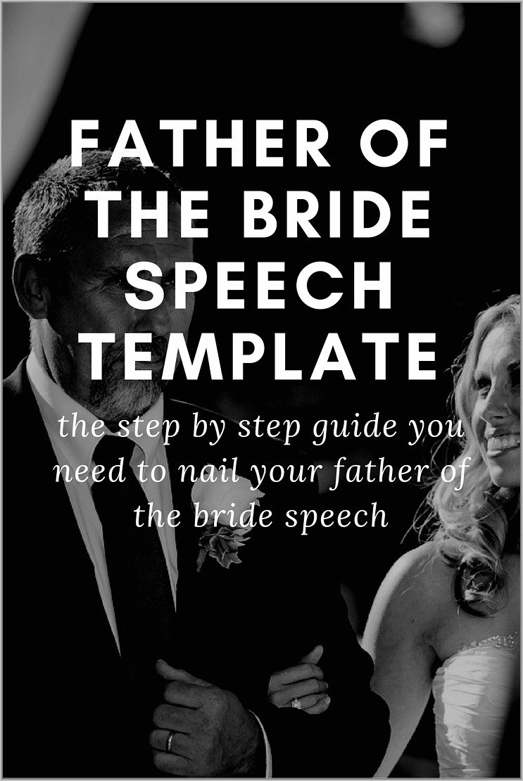 Speech Father Of The Bride Template