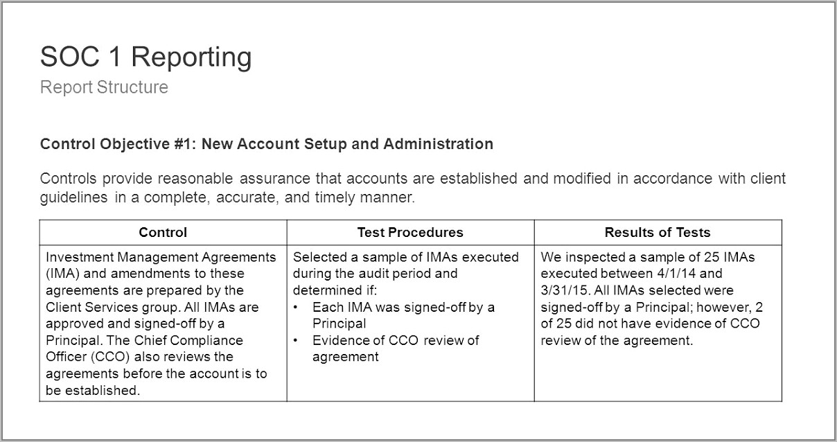 Ssae 16 Review Template