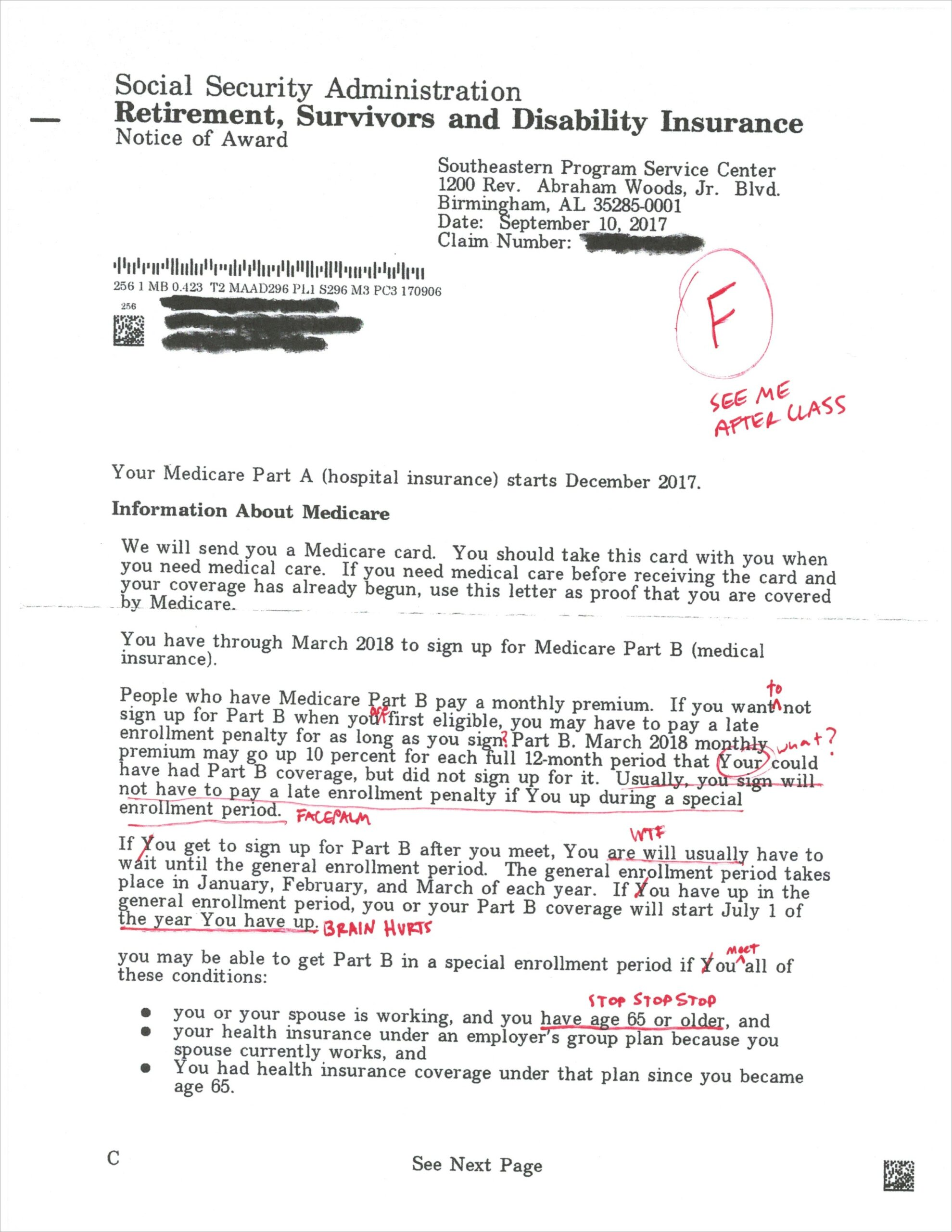 Ssdi Award Letter Sample