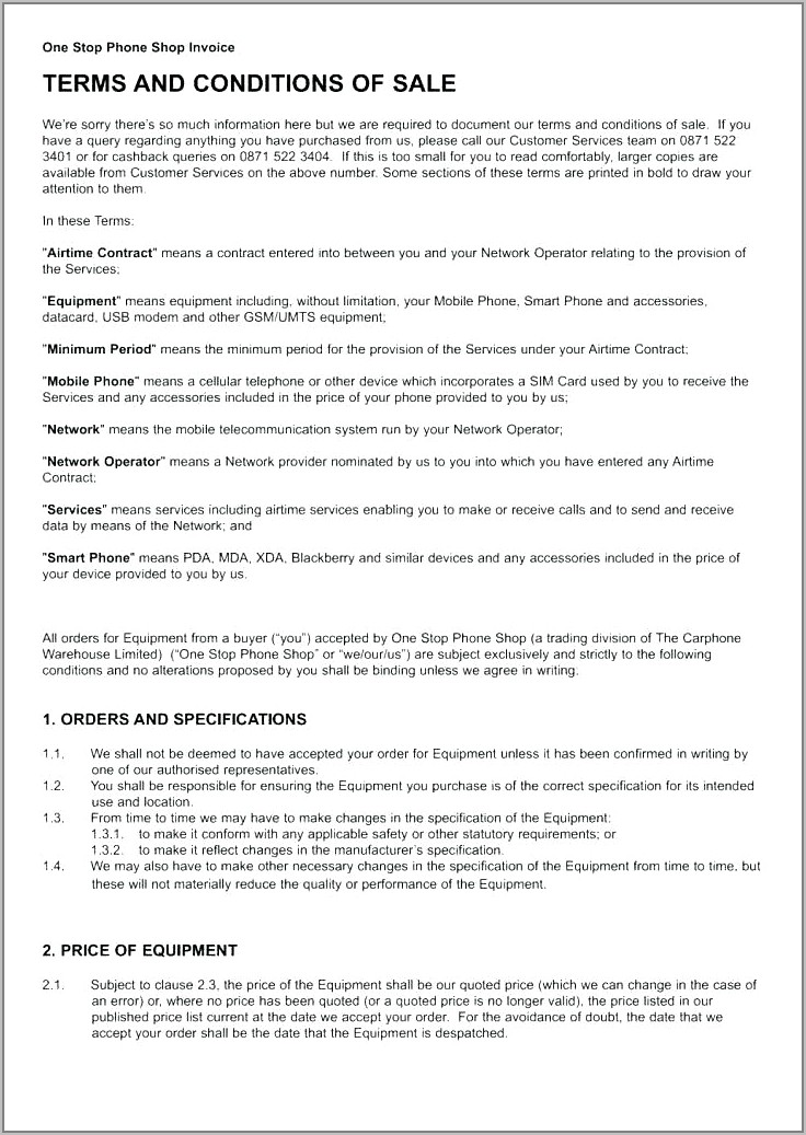 Standard Separation Agreement Ontario Examples